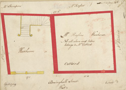 [Plan of property on Basinghall Street] 115A